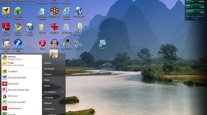 Windows Vista: dreaming nature in cyberspace