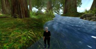 Sue Thomas in Chakryn Forest, Second Life, 2013