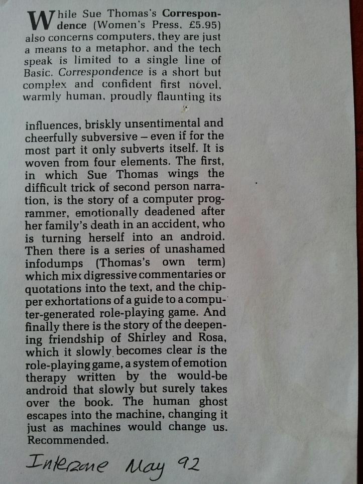 Interzone May 1992