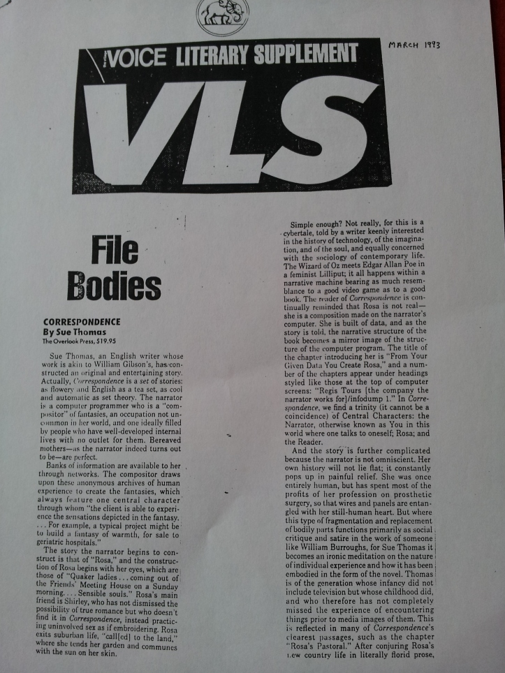 Village Voice March 1993, page 1
