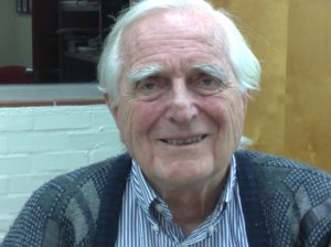 Douglas Engelbart in his office at SRI, 11 Feb 2009