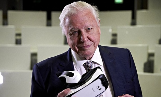 David Attenborough and producer dive deep into potential of VR