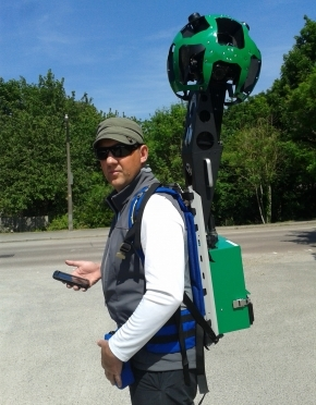 Google Trekker takes to the British countryside. First stop Surrey.