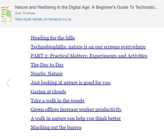 For the un-Kindled – a free preview of 'Nature and Wellbeing in the Digital Age', no Kindle required
