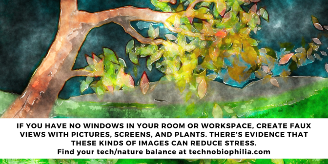 Create nature views with pictures, screens and plants. Tip 4/7 Series 2